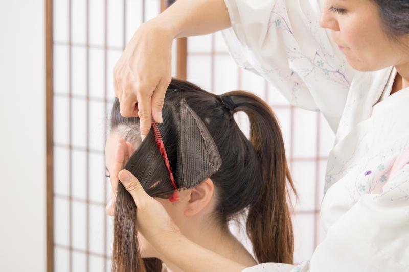 日本髪変身キット『まるまげ』